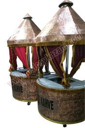 Yuvarlak Kahveci Güzeli Arabası